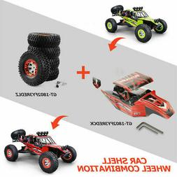 5 Red Car Wheel+1 Shell For 1/12 4WD RC Car Monster Truck RO