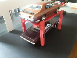 1:24 1:25 Scale 4 Post Model Car Lift for Garage Diorama 1/2