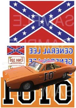 1:24 scale GENERAL LEE WATER-SLIDE DECALS FOR model car SLOT