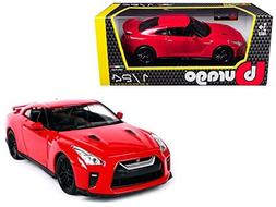 NEW 1:24 W/B BBURAGO PLUS COLLECTION - RED 2017 Nissan GT-R