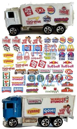 1:64 FAST FOOD  WATER-SLIDE DECALS FOR HOT WHEELS, MATCHBOX,