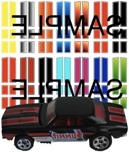 1:64 Racing Stripes   WATER-SLIDE DECALS FOR HOT WHEELS, MAT