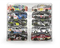 10 CAR ACRYLIC DISPLAY SHOW CASE FOR 1/24-1/25 SCALE MODELS
