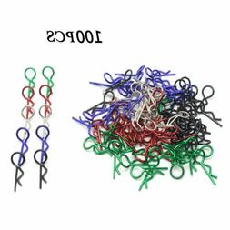 Hosim 100pcs RC Car Body Clip Pins 5 Colors 1.2mm Universal