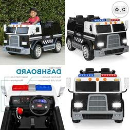 Best Choice Products 12V RC Police Car Ride-On with USB Port