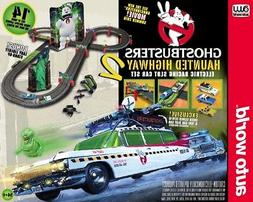 Auto World 14' Ghostbusters Hauted Highway 2 Race Set HO Sca