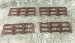 LIONEL 1877  SHORT BROWN FENCE 4 PIECES FOR 1877 FLAT CAR WI