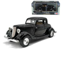 1934 Ford Coupe Black 1/24 Scale Diecast Car Model By Motor