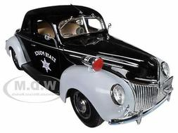 1939 FORD DELUXE POLICE CAR 1/18 DIECAST MODEL  BY MAISTO 31