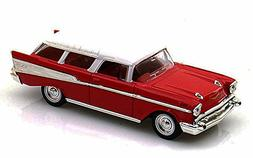 1957 Chevrolet Nomad, Red - Yatming 94203 - 1/43 Scale Dieca