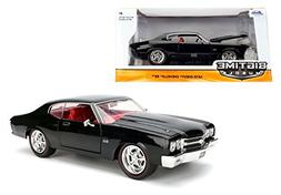 1970 Chevrolet Chevelle SS Black 1/24 by Jada 97834