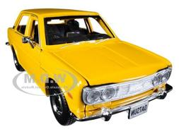 """1971 DATSUN 510 YELLOW """"SPECIAL EDITION"""" 1/24 DIECAST MODEL"""