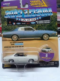 Johnny Lightning 1973 Dodge Charger 1/64 die cast replica Mo