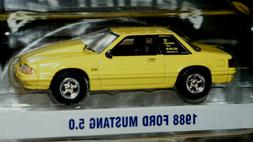 1988 ford mustang 5.0 foxbody w/ cowl hood 1/64 scale diecas