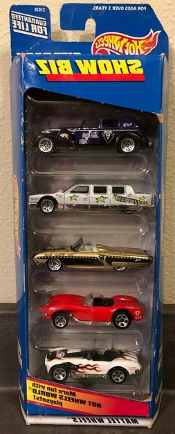 1998 Hot Wheels - SHOW BIZ - 5 CAR GIFT PACK - Great for Pla