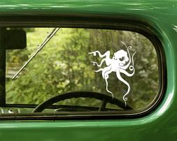 2 OCTOPUS DECAL Stickers For Car Window Truck Bumper Laptop