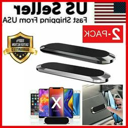 2 PCS Strip Shape Magnetic Car Phone Holder Stand For iPhone