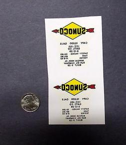 2 Lionel Sunoco Arrows W/ Letters For Tank Car PRE-TRIMMED D
