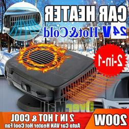 200W Portable Auto Heater Heating Cooling Fan Defroster Demi
