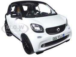 2015 SMART FOR TWO BLACK/WHITE 1/18 DIECAST MODEL CAR BY NOR