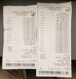 2020 Hot wheels 20 car receipt from dollar general use for n
