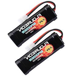FLOUREON 2Packs 7.2V 3500mAh Flat NiMH High Capacity Battery