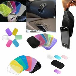 2pc Auto Car Mats Sticky Pad Antiskid Mat Holder Silicone Ru