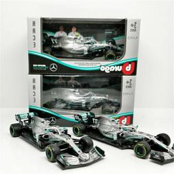 2PCS SET Bburago 1:43 2019 F1 Mercedes AMG Petronas W10 Mode