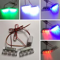 2pcs set 3 led strobe light font
