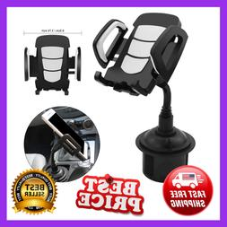 360 Degree Truck Car Cup Holder Stand GPS Cradle Mount for C