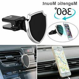 360° Universal Magnetic Car Air Vent Mount Holder Cradle Fo