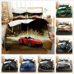3D Sports Car Bedding Set Duvet Cover for Comforter Pillow S