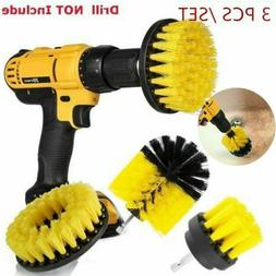 3PCS drill brush for Car Carpet wall and Tile cleaning MEDIU