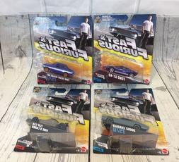 4 Fast and Furious Mattel Cars Dodge Charger, Ford GT, Flip