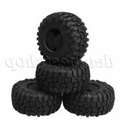 """4 Pieces 2.2"""" ID 125mm RC 1:10 Scale Tires for Class Rock Cr"""