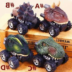 4pcs Pull Back Car Dinosaur Toy Car Model Vehicle Kids Plays