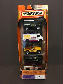 Matchbox 5 Car Gift Pack MBX Metal Ready For Action J4679