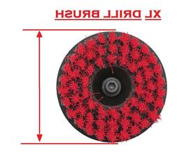 5 inch XL drill brush for Car care Carpet Wall Tile cleaning