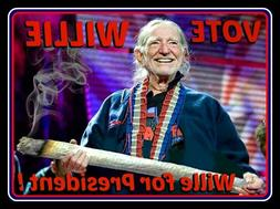 "5"" Willie Nelson for President vinyl sticker. Vote Willie we"