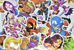 50 Superhero Video Game Anime Vinyl Stickers Pack for Hydro