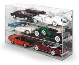 6 CAR ACRYLIC DISPLAY SHOW CASE FOR 1/18 SCALE MODELS BY AUT