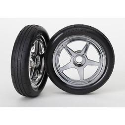 Traxxas 6975 Funny Car Front Tires and Wheels, Pre-Glued