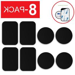 8 pack metal plates adhesive sticker replace