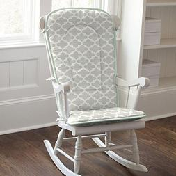 Carousel Designs French Gray and Mint Quatrefoil Rocking Cha