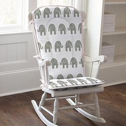 Carousel Designs Pink and Gray Elephants Rocking Chair Pad
