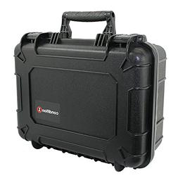 "14"" Medium Black Protective Hard Travel Carrying Case #075 b"