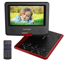 DBPOWER 7.5-Inch Portable DVD Player with Rechargeable Batte