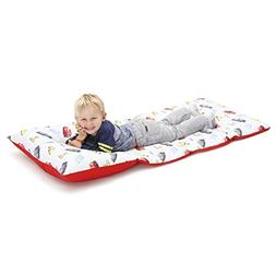 Disney Cars Padded Toddler Easy Fold Nap Mat with Attached P