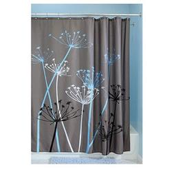 InterDesign Thistle Shower Curtain, Standard - Gray and Blue