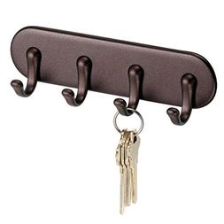 InterDesign York Self-Adhesive Key Rack Organizer for Entryw